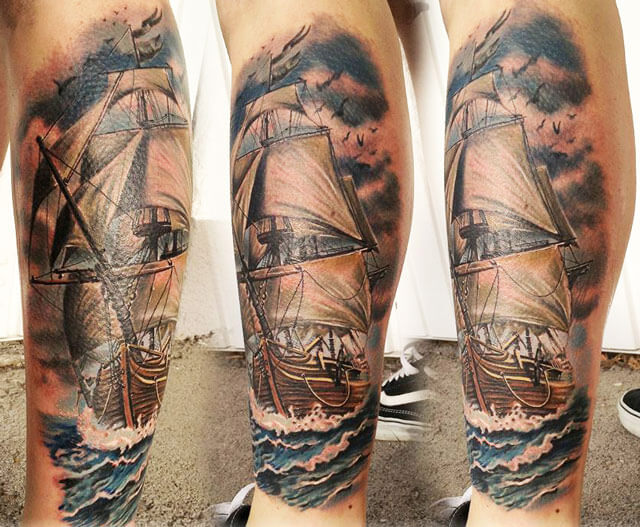 nautical tattoo by andre zechmann post 5123. Black Bedroom Furniture Sets. Home Design Ideas