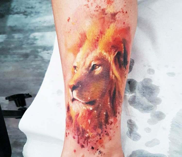 0e7a5a829f8b8 Lion tattoo by Adam Kremer | Post 19939