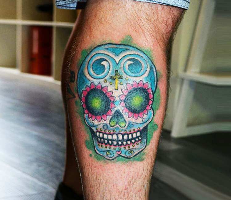 Sugar Skull Tattoo By Adams Eden Post 24415