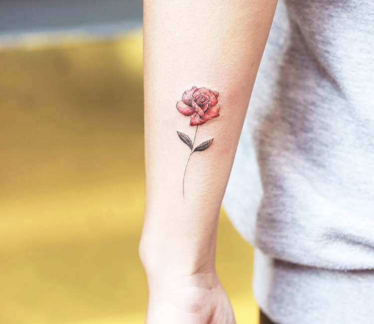 Micro Red Rose Tattoo By Alessandro Capozzi Post 25633