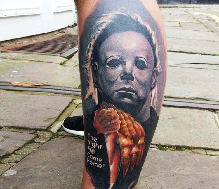 Michael myers tattoo by alex wright post 20797 for Michael myers tattoo