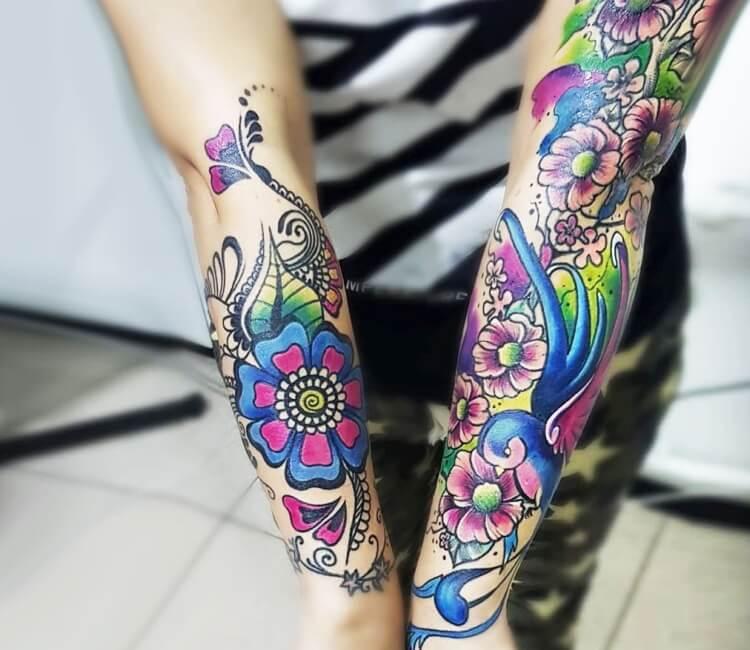 Flower Tattoos Cartoon Tattoos Gallery