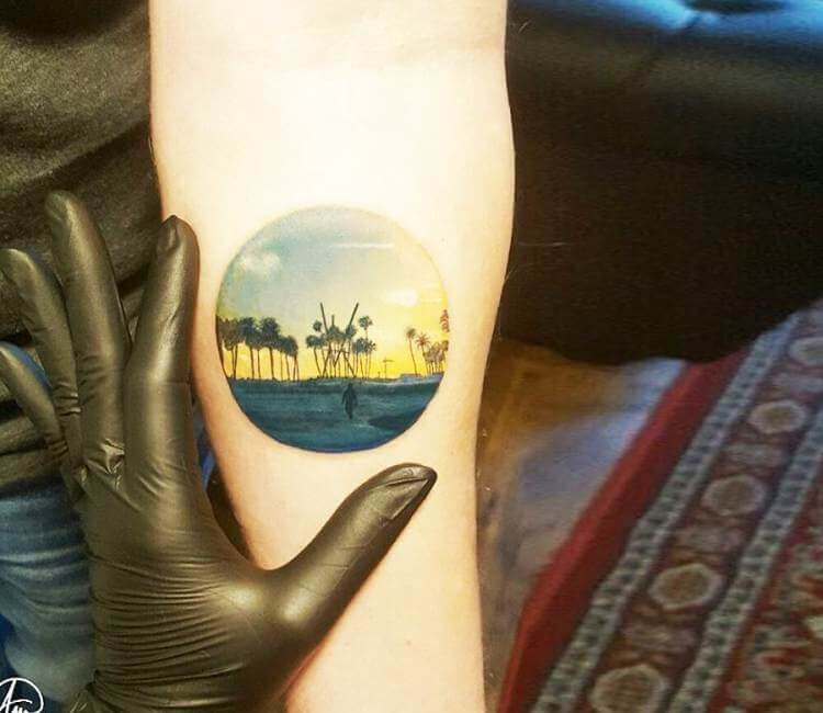 California Sunset Tattoo By Andrea Morales Post 17686