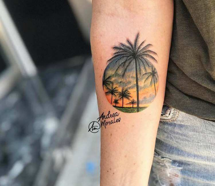 Palm Tree Tattoo By Andrea Morales Post 26756