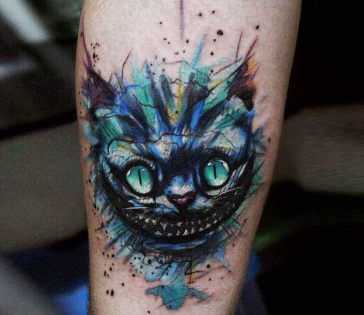 cheshire cat tattoo by andrey stepanov post 16127. Black Bedroom Furniture Sets. Home Design Ideas