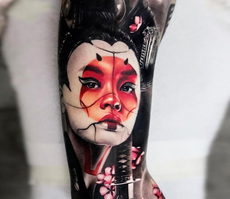 Geisha Tattoo By Andrey Stepanov Post 29434