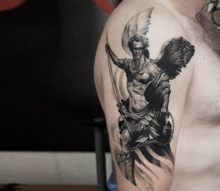 Warrior angel tattoo by andrey stepanov post 16120 for Warrior angel tattoos
