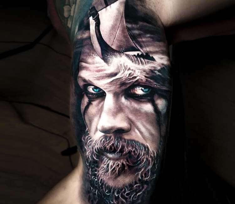 Floki Tattoos: Floki Tattoo By Arlo Tattoos