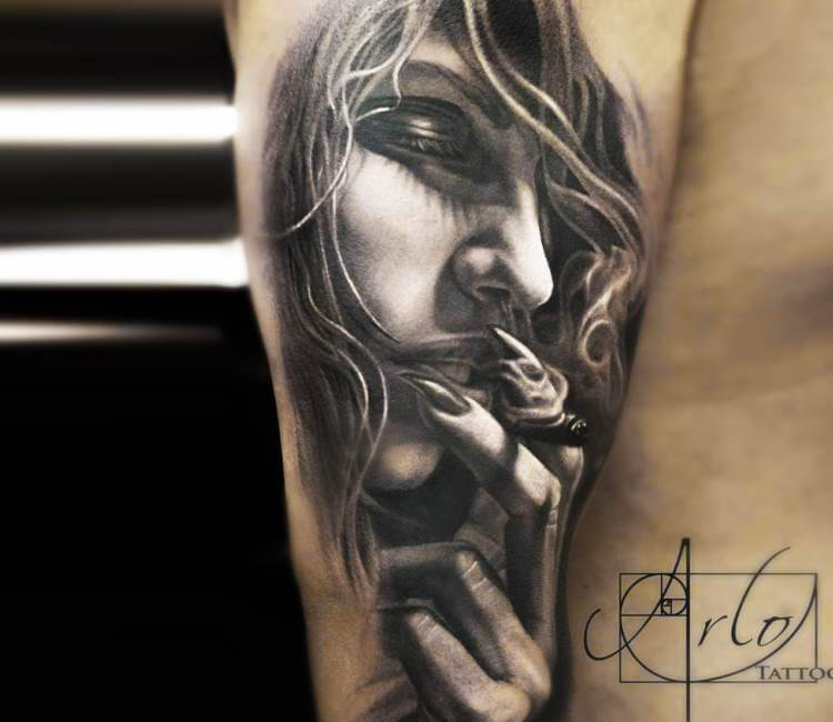 Girl face tattoo by arlo tattoos post 15539 for Girl tattoo artist