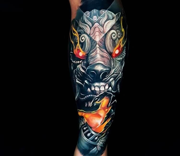 Foo Dog Mask Tattoo By Ata Ink Post 28059
