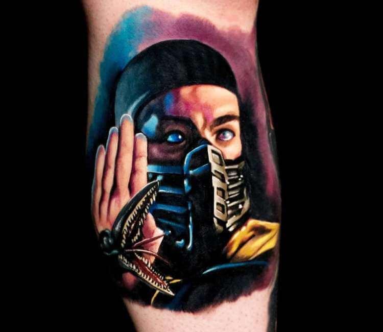 drawing mortal kombat scorpion tattoo