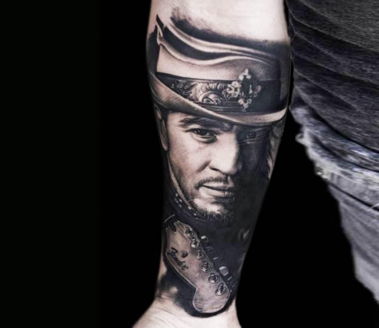 Stevie ray vaughan tattoo by bacanu bogdan post 21320 for Stevie ray vaughan tattoo