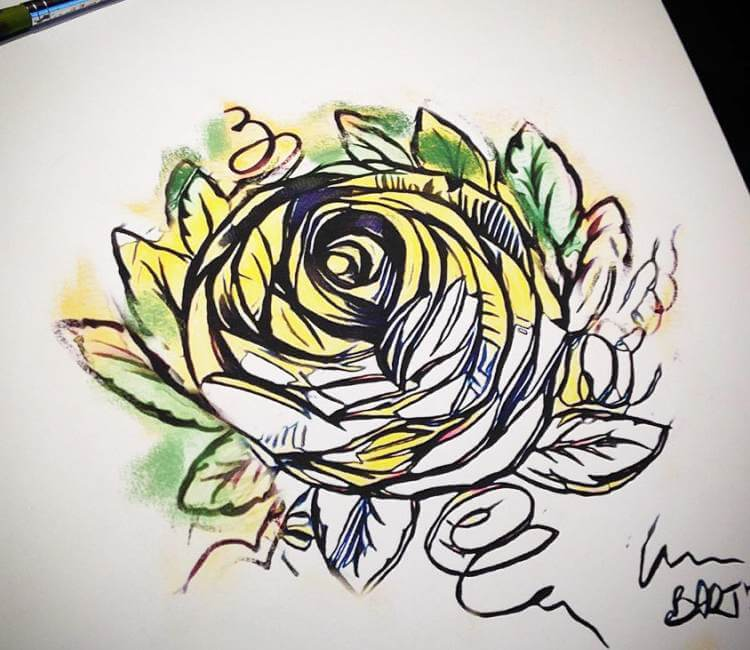 Rose Design Painting By Bartt Tattoo Post 18981