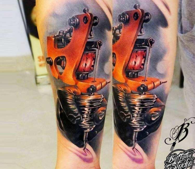 tattoo machine tattoo by lukasz bejtu post 21717. Black Bedroom Furniture Sets. Home Design Ideas
