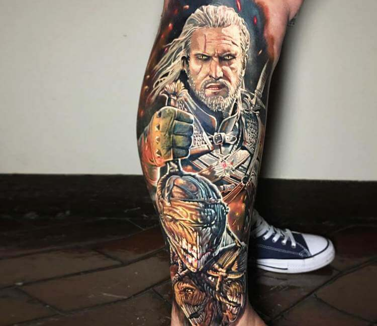 Witcher 3 Tattoo: Witcher Tattoo By Ben Kaye