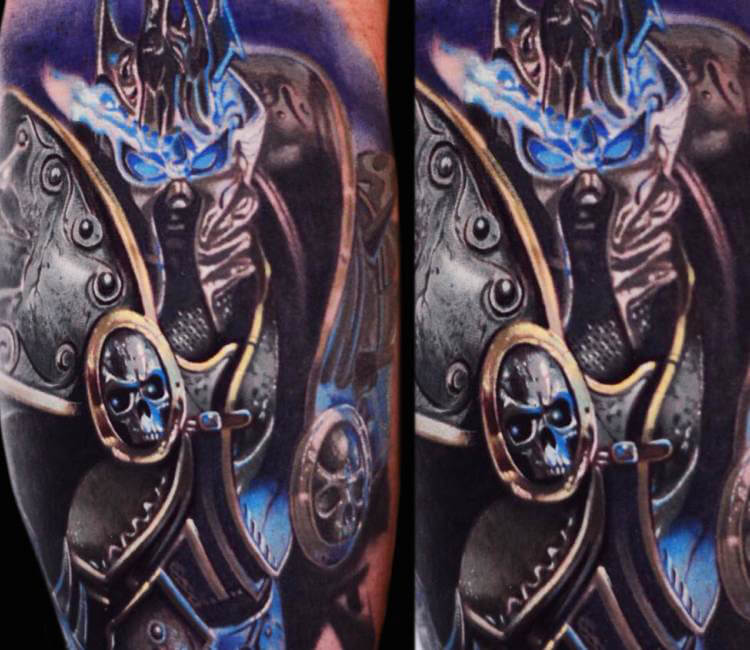 Lich king from word of warcraf tattoo by ben ochoa post for Lich king tattoo