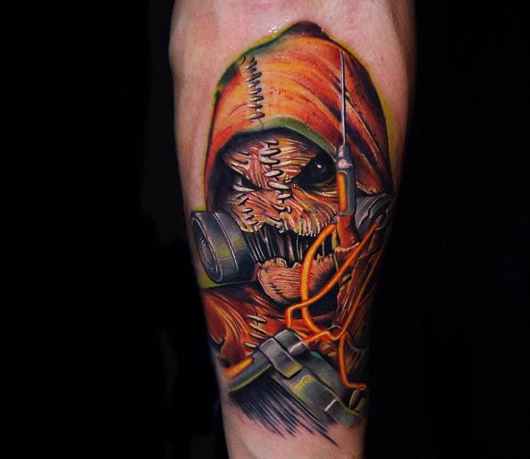 Scarecrow tattoo by ben ochoa post 16902 for Sebastian tattoo artist dc