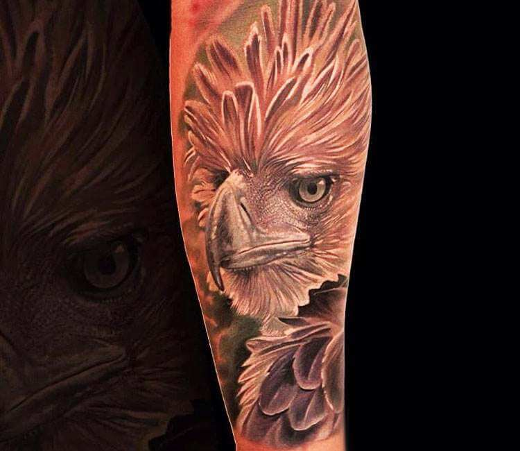 philippine eagle tattoo by boris tattoo post 24018 rh worldtattoogallery com Ancient Filipino Tribal Tattoos philippine eagle tattoo designs