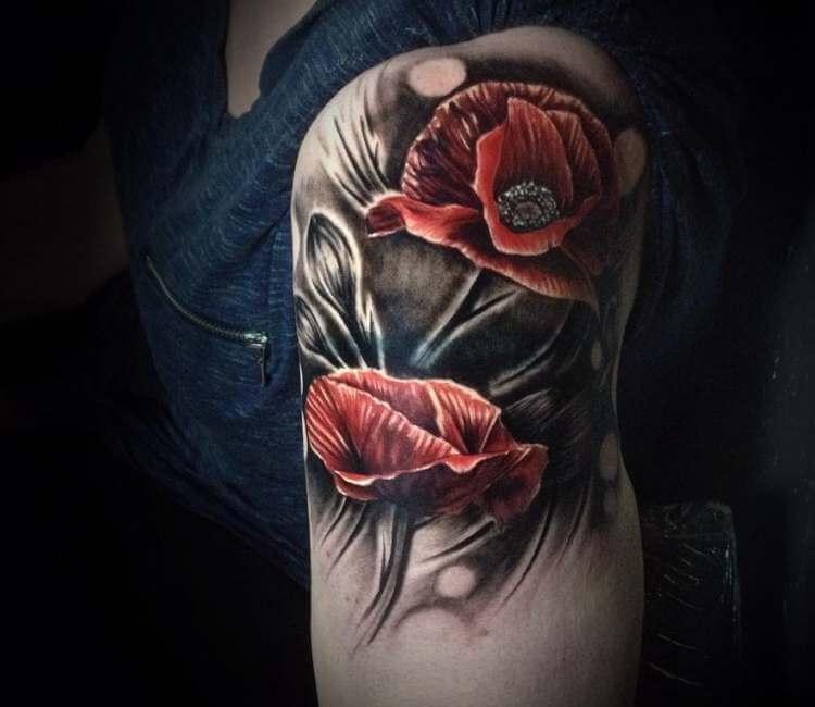 Poppy flowers tattoo by brandon mcgillvery post 24254 mightylinksfo