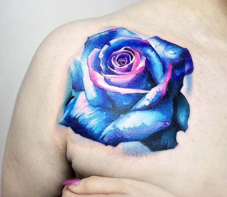 908efba03 Blue Rose tattoo by Carlos Breakone | Post 18408