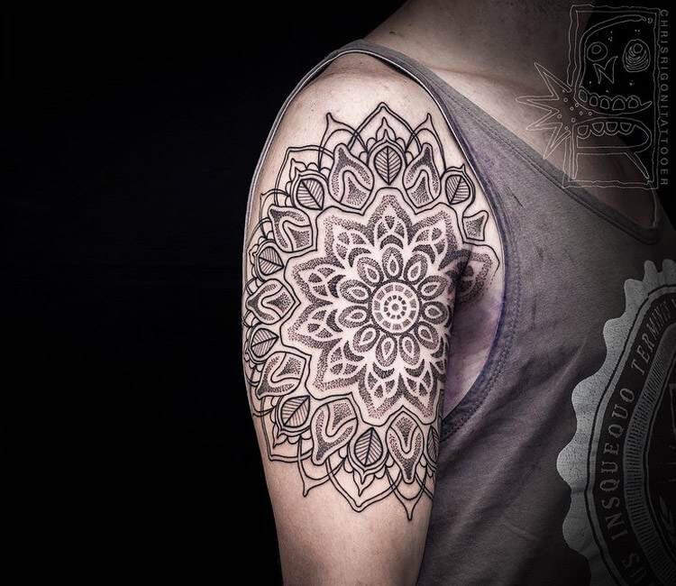 Mandala Flower Tattoo By Chris Rigoni Post 16701