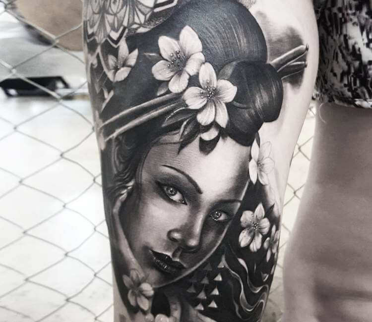 Geisha Tattoo By Chris Showstoppr Post 26784