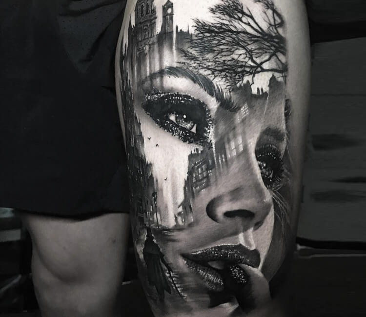 Morphing face tattoo by Chris Showstoppr   Post 27838