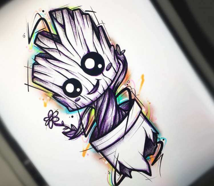 Baby Groot Drawing By Cristian Carrion Post 25360