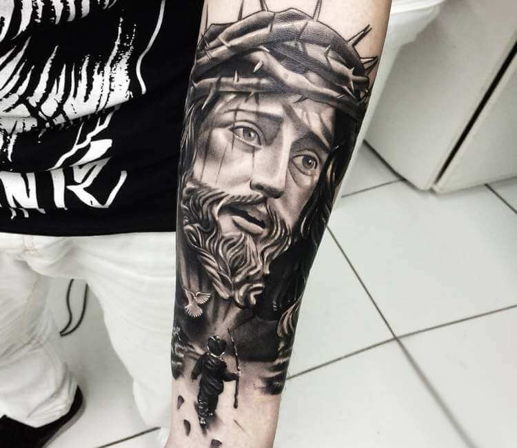 Jesus Christ Tattoo By Douglas Prudente Post 23984 Most often jesus is pictured on the cross. jesus christ tattoo by douglas prudente