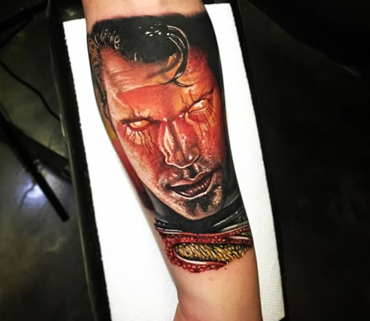 Man of steel tattoo by Edward Best