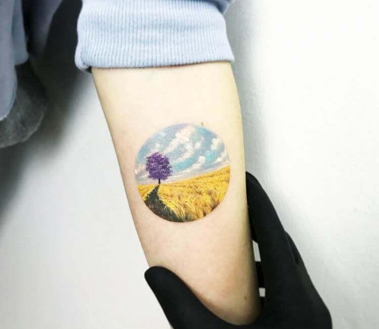 Field Of Wheat Tattoo By Eva Krbdk Post 17387