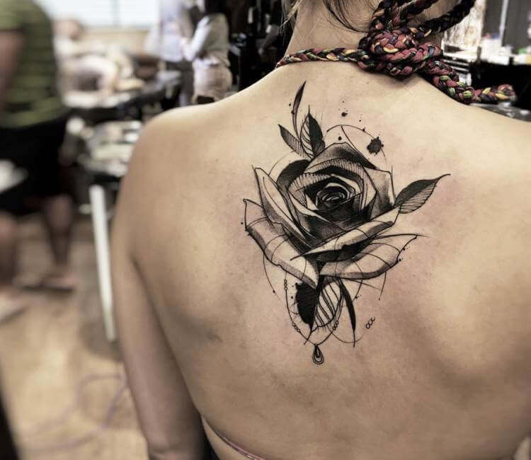 Black Rose tattoo by Felipe Rodrigues | Post 17285