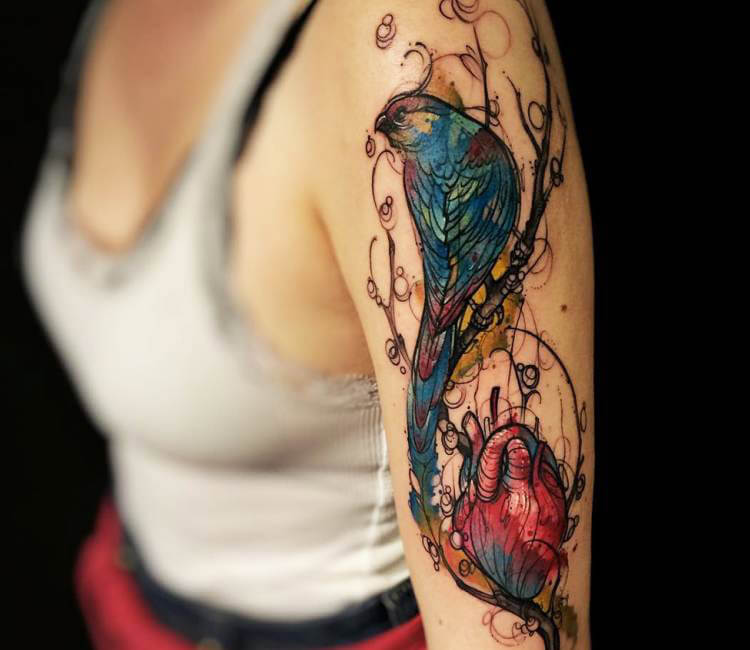 Blue Bird tattoo by Felipe Rodrigues | Post 15490