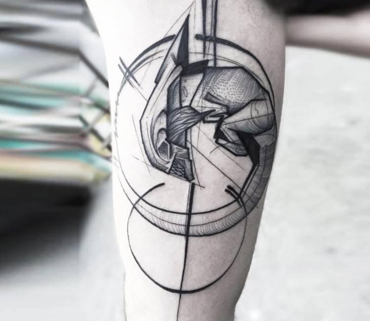Black Line Tattoo Designs
