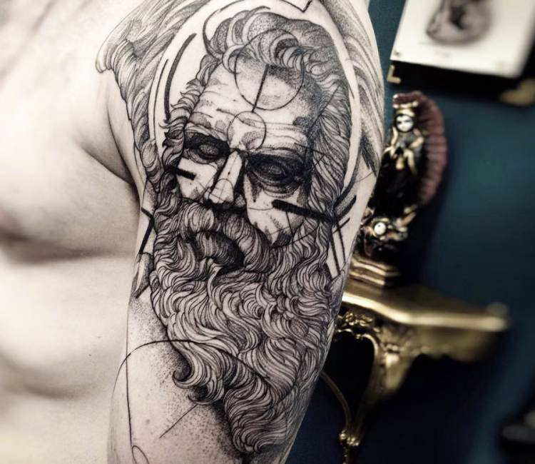 Zeus Tattoo By Fredao Oliveira