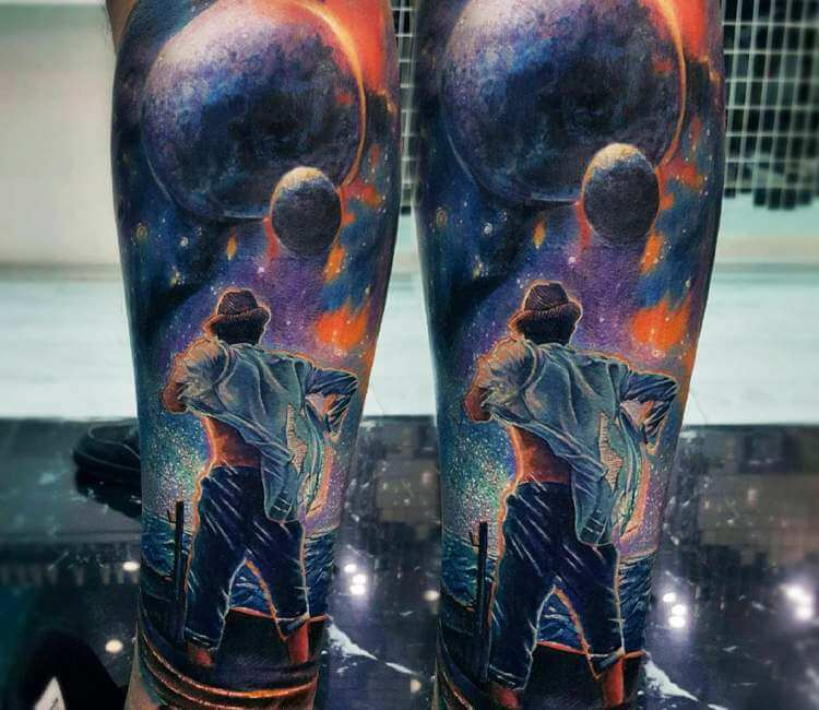 Planet Stars And Man Tattoo By Gundeniz Oktay Post 26245