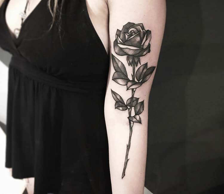 Black Rose Tattoo By Gustavo Takazone Post 23962