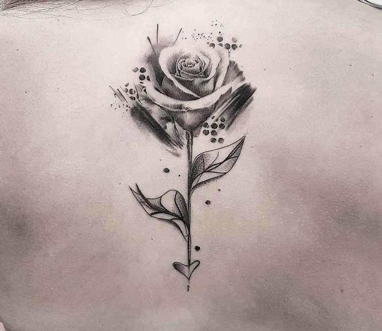 Rose tattoo by Ilaria Tattoo Art