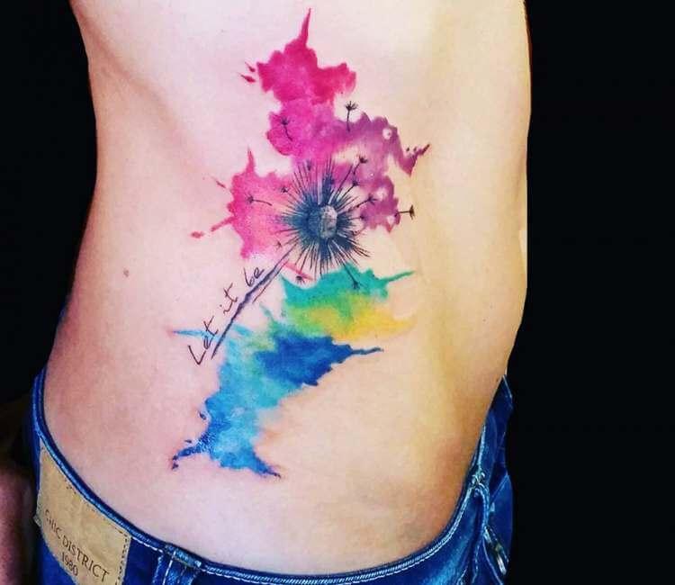 8e9530377cdee Dandelion tattoo by Ilaria Tattoo Art   Post 21922