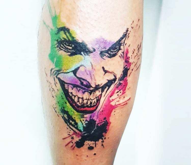 Joker Face Tattoo By Ilaria Tattoo Art