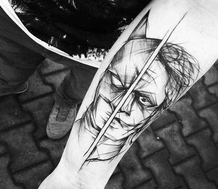 Batman And Joker Tattoo By Inne Tattoo Post 25439