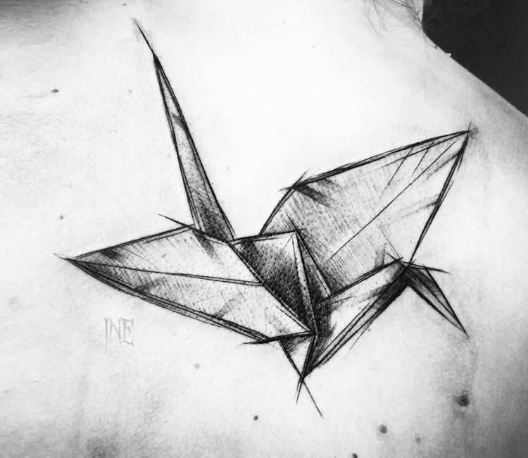 Origami Bird Tattoo By Inne