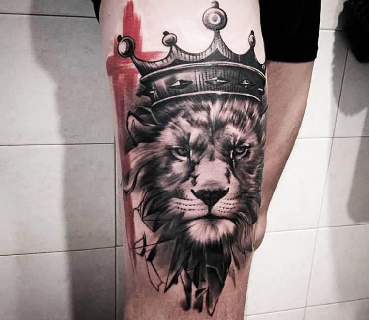 King Lion Tattoo By Ivan Trapiani Post 14940