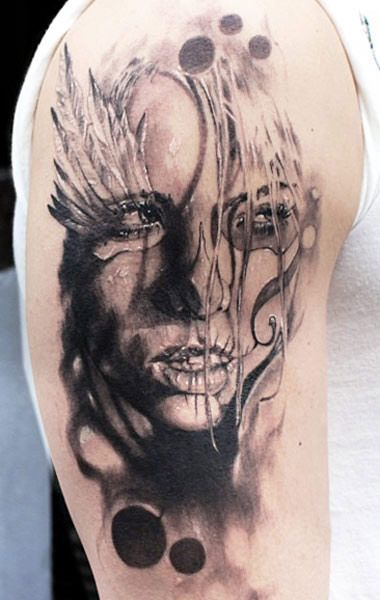 8bf0b3057 black and gray face tattoo by jak connolly