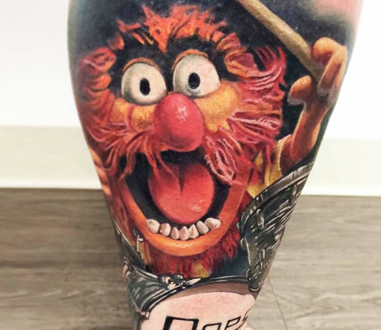 animal from muppets tattoo by jesse rix post 15051. Black Bedroom Furniture Sets. Home Design Ideas