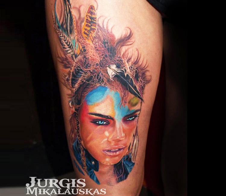 6700fc6ff Squaw Portrait Tattoos
