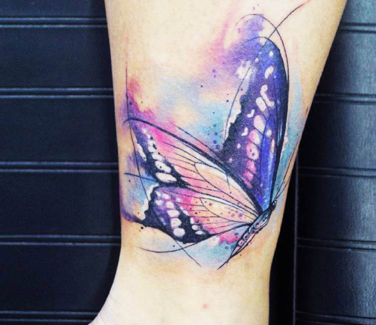 Watercolor Butterfly Tattoos: Watercolor Butterfly Tattoo By Kati Berinkey