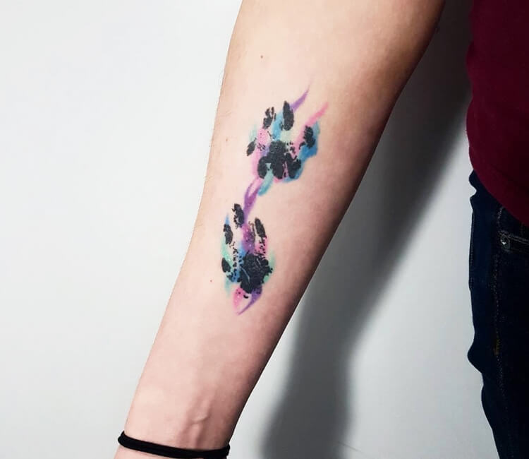 Dog Paw Print Tattoo By Kerste Diston Post 27506