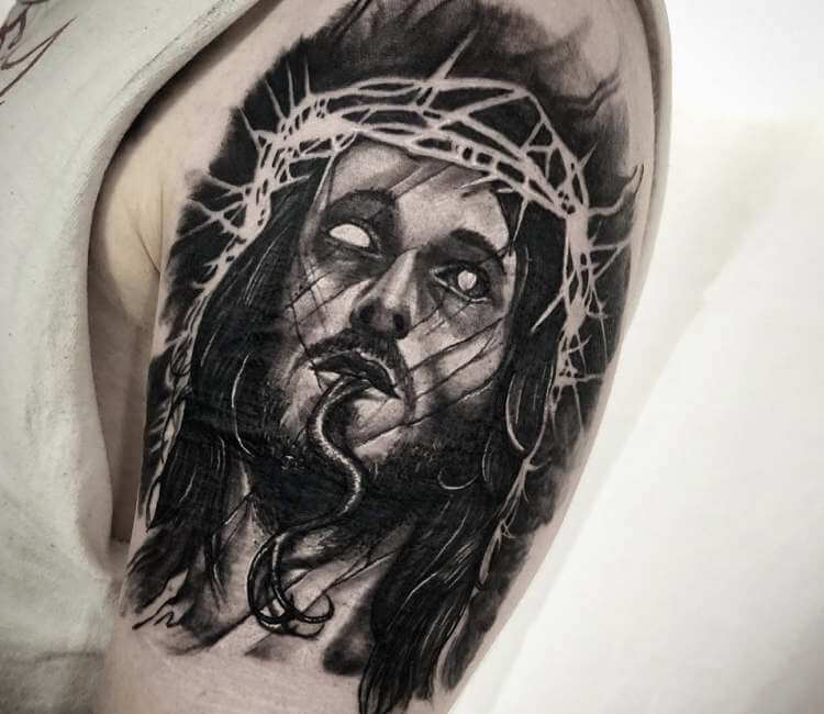 Jesus Christ tattoo by Kevin Saxler | Post 24494