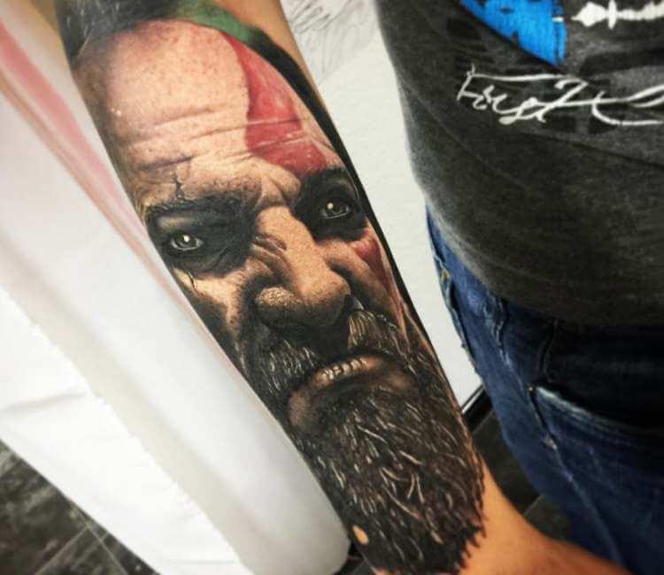 Kratos Tattoo By Kevin Saxler Post 25893